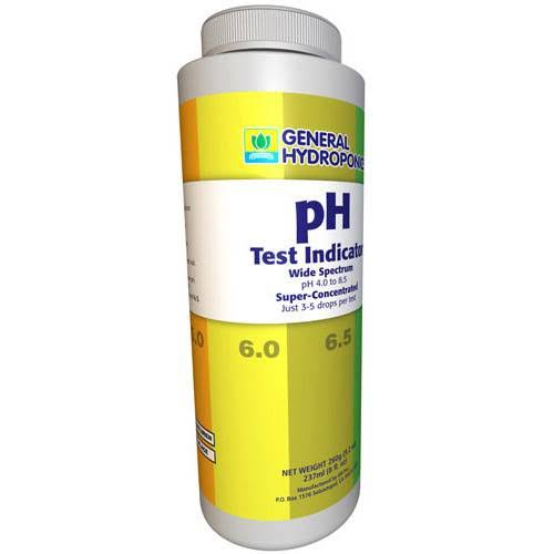 General Hydroponics pH Test Indicator Solution - 8oz
