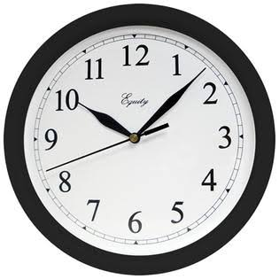 Equity 25203 Wall Clock - 10in, Black