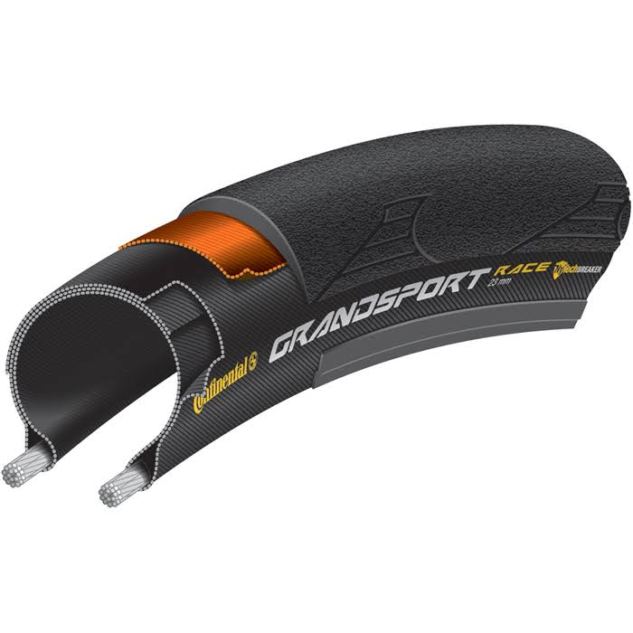 Continental Grand Sport Race Folding Bead - Black