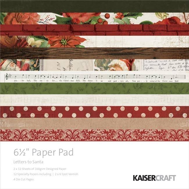 "Kaisercraft Letters To Santa Collection Christmas Paper Pad - 6.5""x6.5"""
