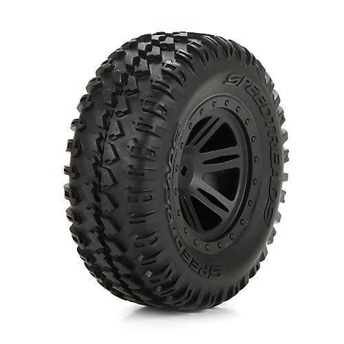 ECX ECX43011 FR Tire, Premount, Black Wheel (2): 1:10 Amp DB