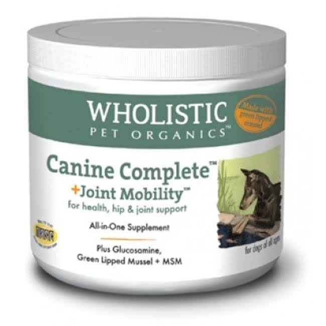 Wholistic Pet Organics Canine Complete Plus Joint Mobility with Green Lipped Muscle Supplement - 1lb