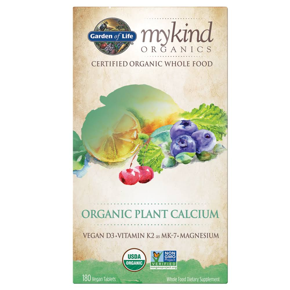 Garden Of Life My Kind Organics Plant Calcium - 180 Tablets