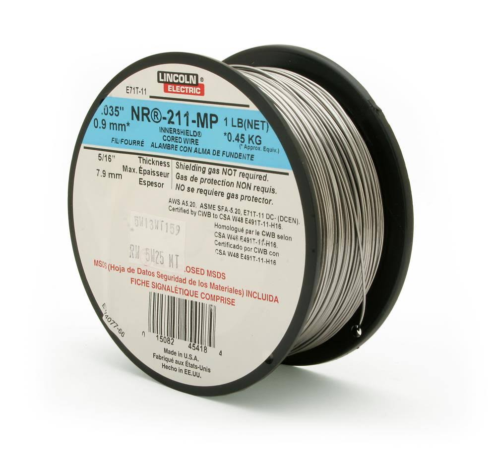 "Lincoln Electric Innershield NR211 Flux Corded Welding Wire - .035"", 1lb"