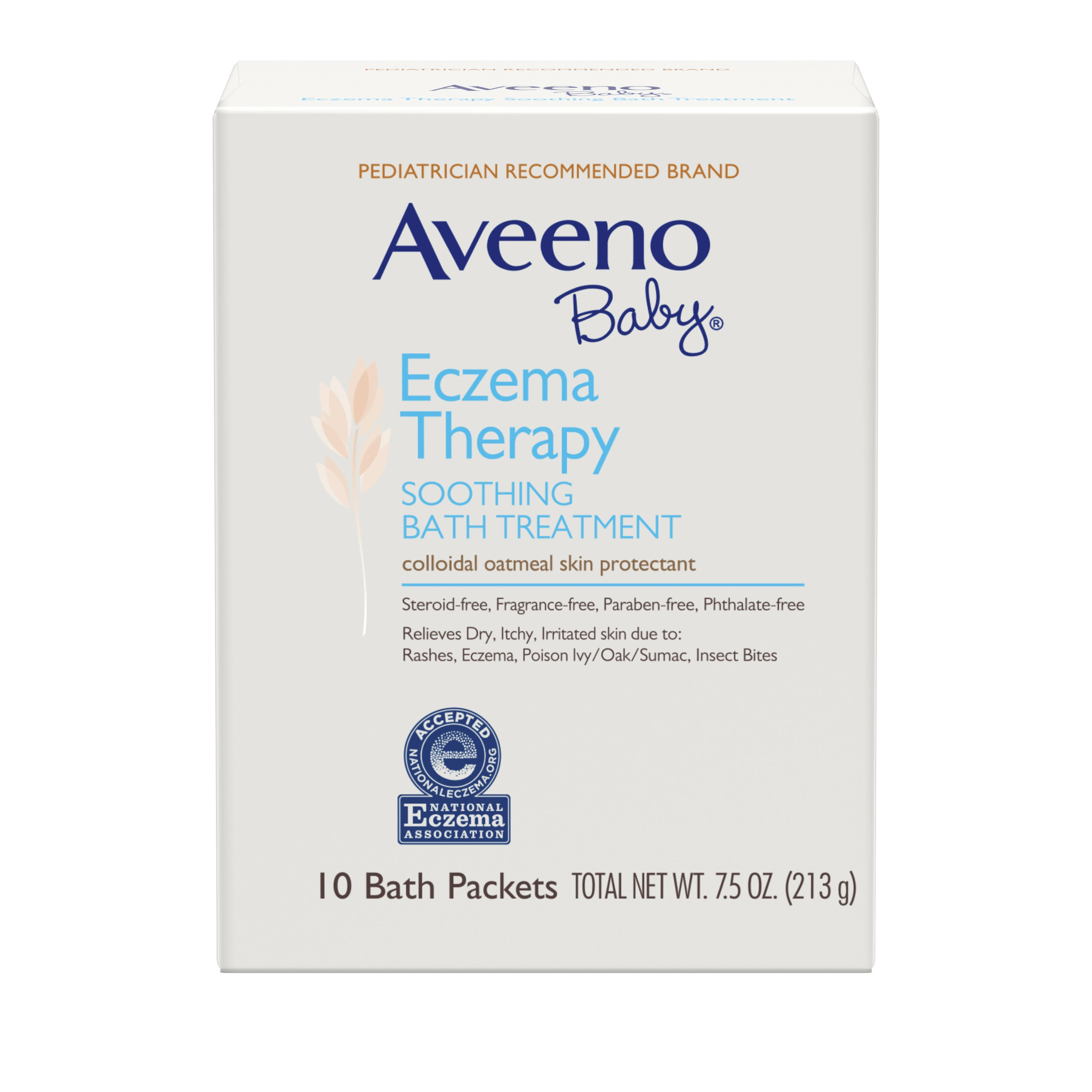 Aveeno Baby Eczema Therapy Soothing Bath Treatment with Natural Oatmeal - 10 Packets