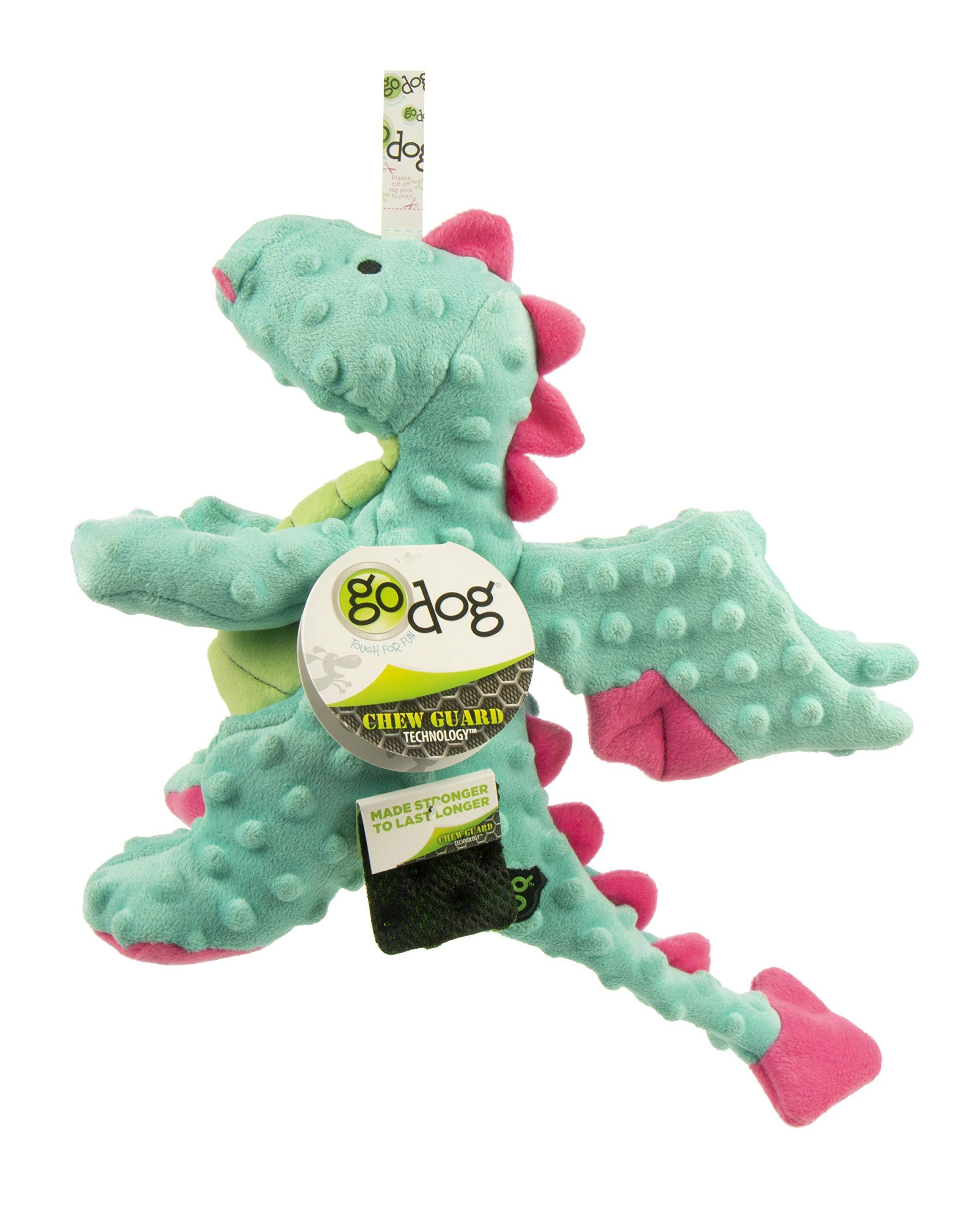Godog Dragons Chew Guard Plush Dog Toy, Seaform, Large