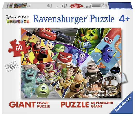 Ravensburger Ultimate Pixar 60 Piece Giant Floor Puzzle