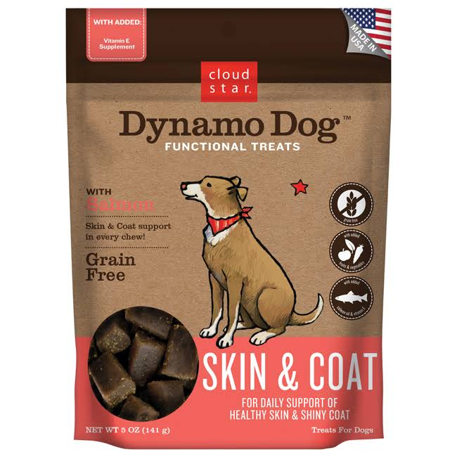 Cloud Star Dynamo Dog Functional Treats - Skin & Coat Salmon