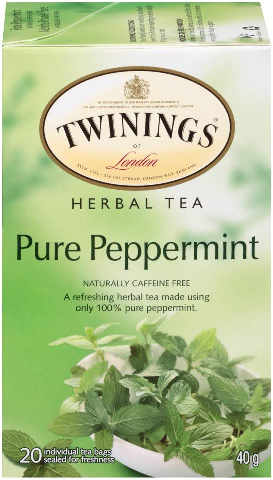 Twinings Of London Tea Bags - Pure Peppermint, 20ct, 40g