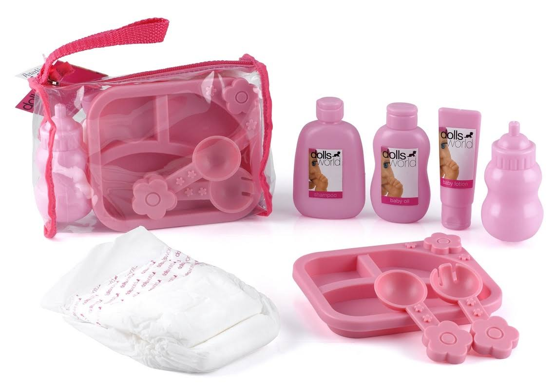 Peterkin Dolls World Care Bag Feeding and Nappy Set 3Y+