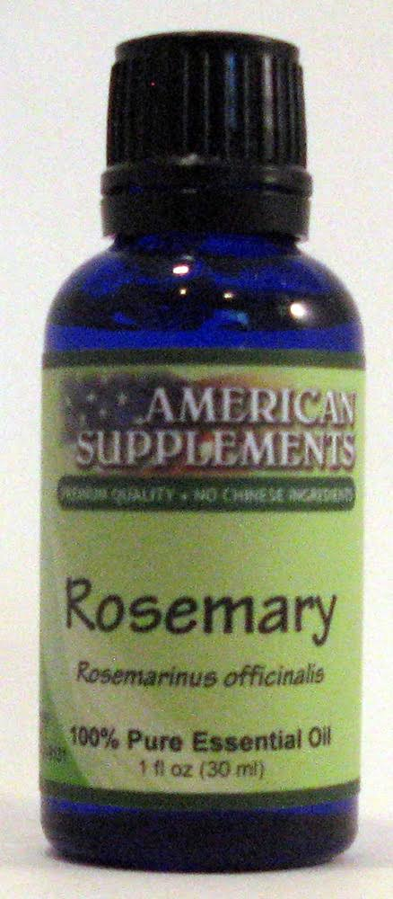 American Supplements Rosemary Essential Oil - 1 oz Oil