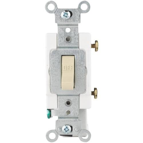 Leviton R41-CS120-2IS Ivory Commercial Grade Quiet Toggle Switch - 20A