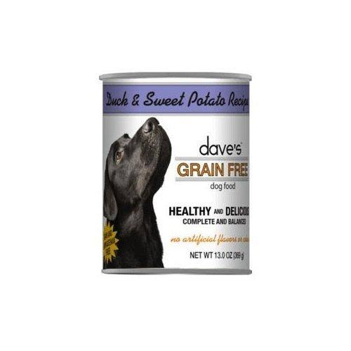 Dave's Grain Free Duck & Sweet Potato Recipe Canned Dog Food - Can