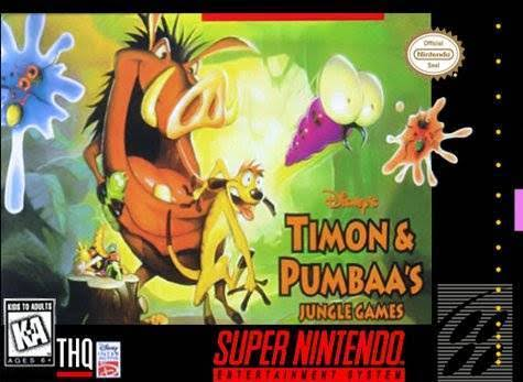 Timon and Pumbaa's Jungle Games - Super Nintendo