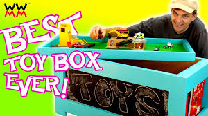 How To Make A Wooden Toy Chest by Diy Toy Box Super Easy To Build Free Plans Youtube