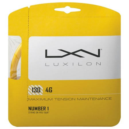Luxilon 4G Tennis String - Gold, 16 Gauge, 1.30mm