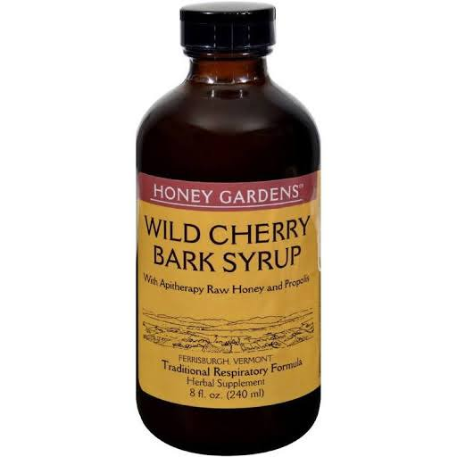 Honey Gardens Wild Cherry Bark Honey Syrup - 8 fl oz bottle