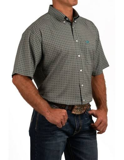 Cinch Western Shirt Mens S/S ArenaFlex Button MTW1704045 Brown