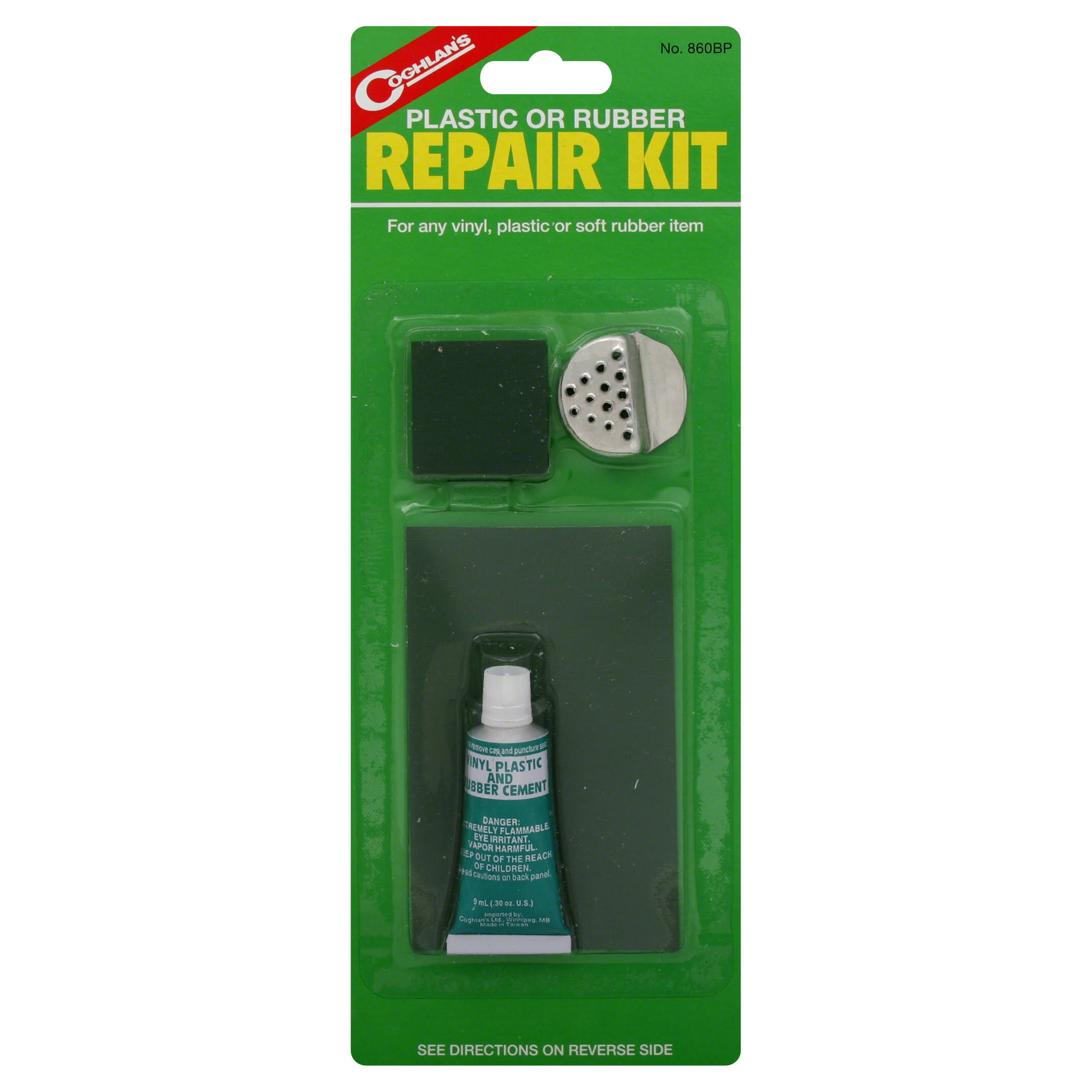 Coghlans 159206 Plastic of Rubber Repair Kit