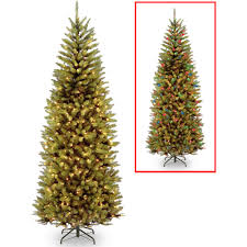 7ft Black Pencil Christmas Tree by Holiday Time Pre Lit Brinkley Pine Artificial Christmas Tree