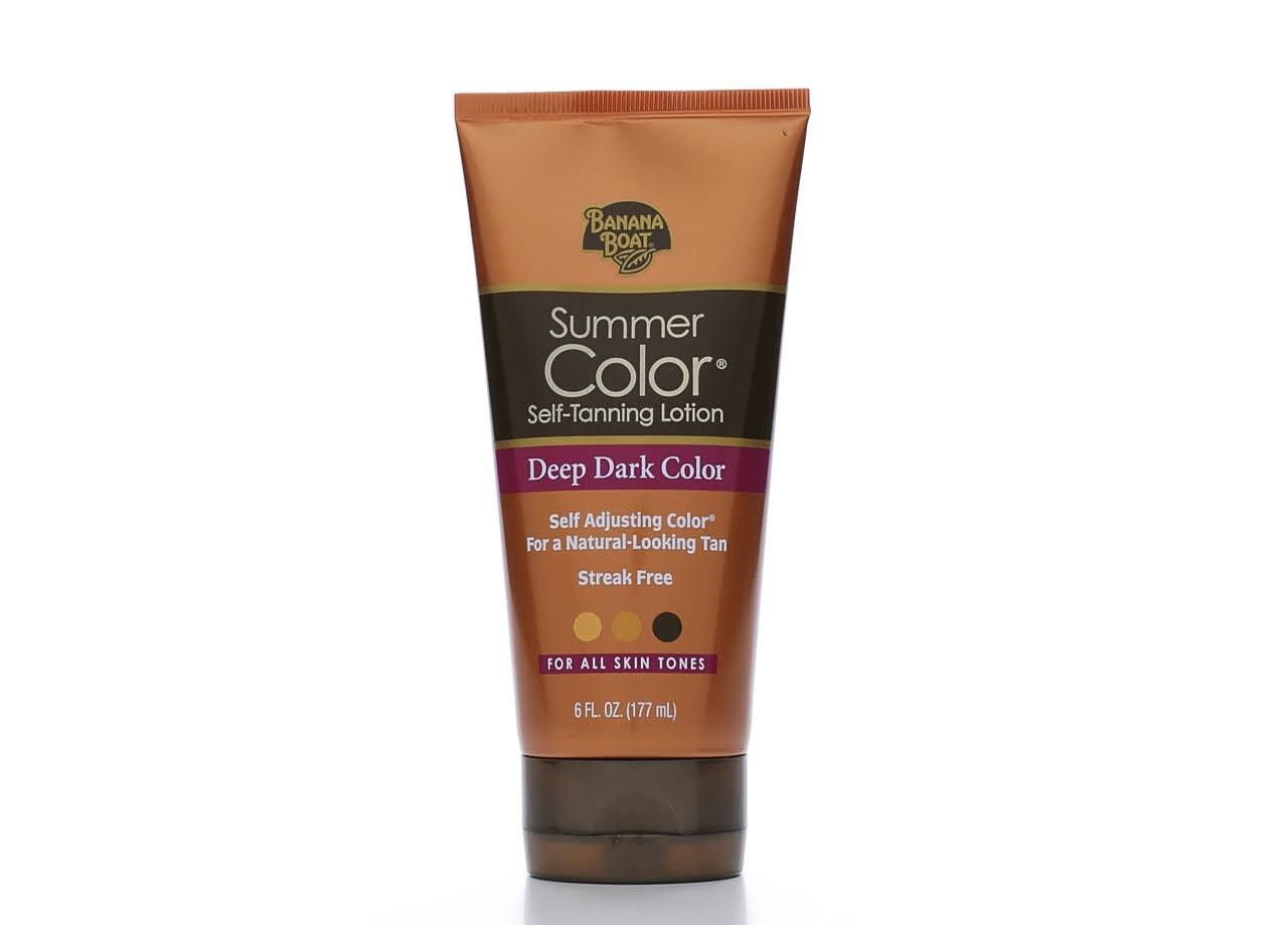 Banana Boat Summer Color Self-Tanning Lotion - Deep Dark Color
