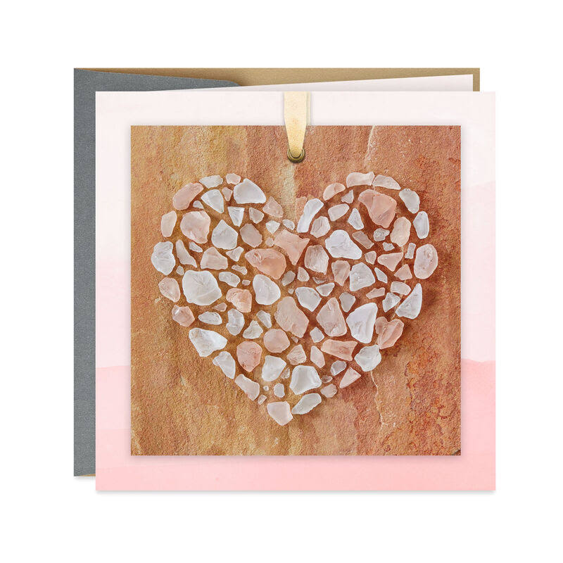Crystal Heart Blank Card