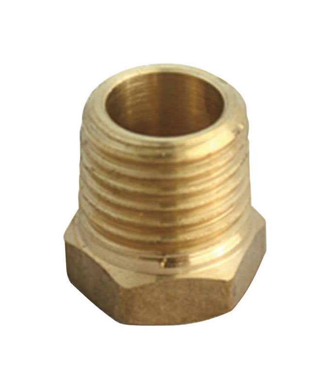 JMF Lead Free Yellow Brass Hex Bushing - 3/4in x 1/2in
