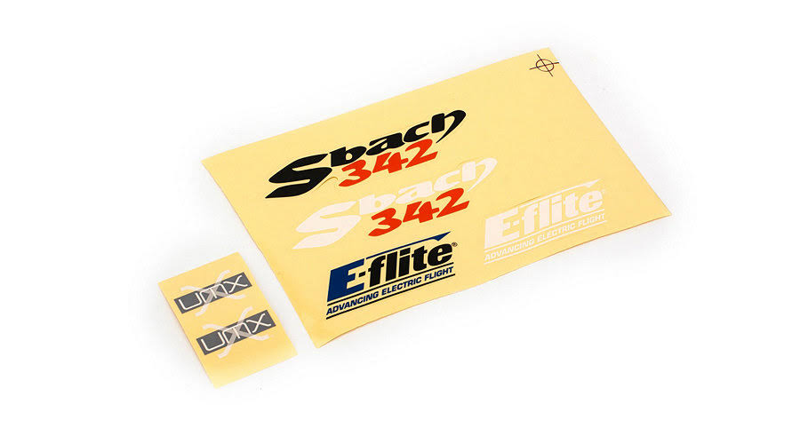 E Flite EFLU4165 RC Vehicle UMX Sbach 342 Decal Set