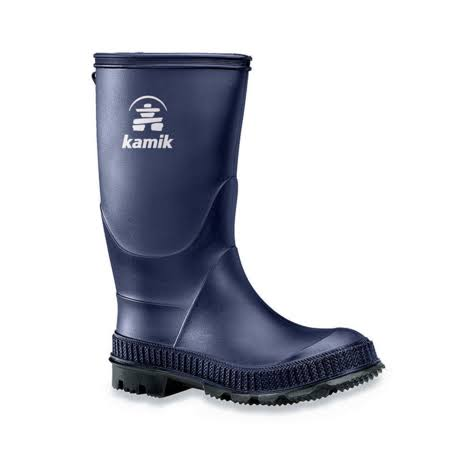 Kamik Kids Stomp Rain Boots - Navy/Black, 4 US