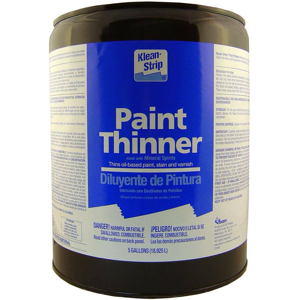 W M Barr Branded Sales Low Odor Paint Thinner - 5gal
