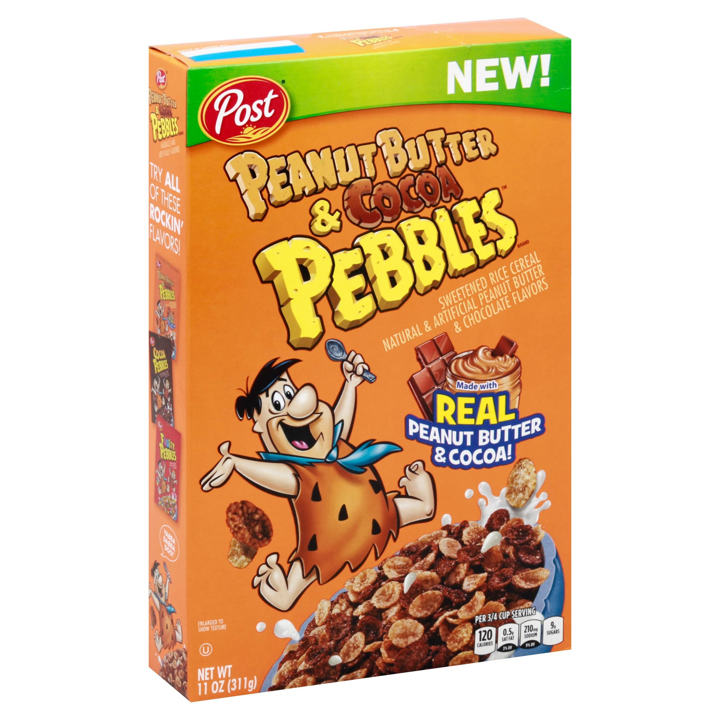 Post Peanut Butter & Cocoa Pebbles Cereal - 11oz