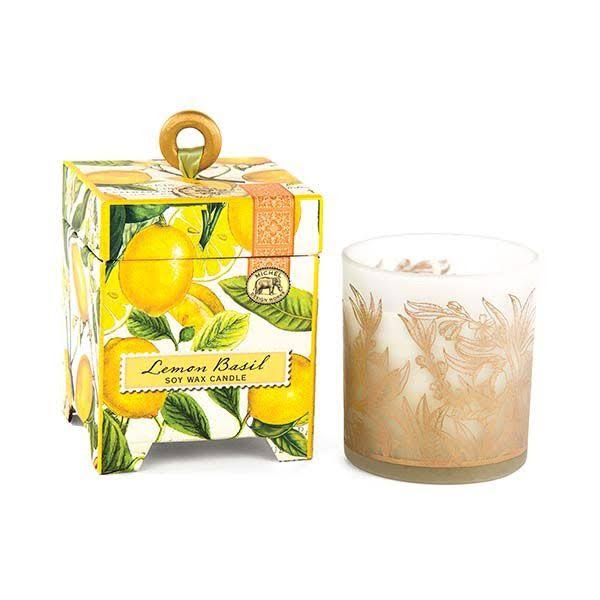 Michel Design Works Soy Wax Candle - Lemon Basil, 6.5oz