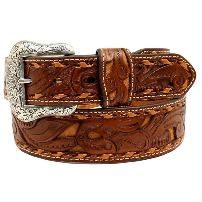 Nocona Western Belt Mens Leather Pierce Leather Strap N2414708