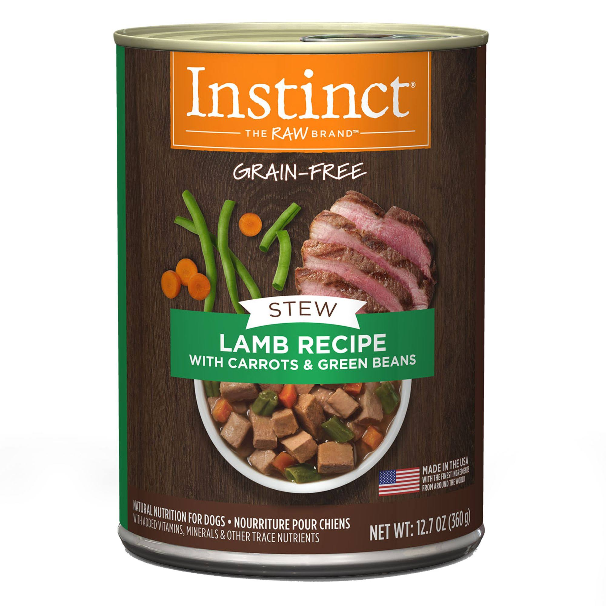 Instinct Wet Canine Stews Lamb Recipe with Carrots and Green Beans