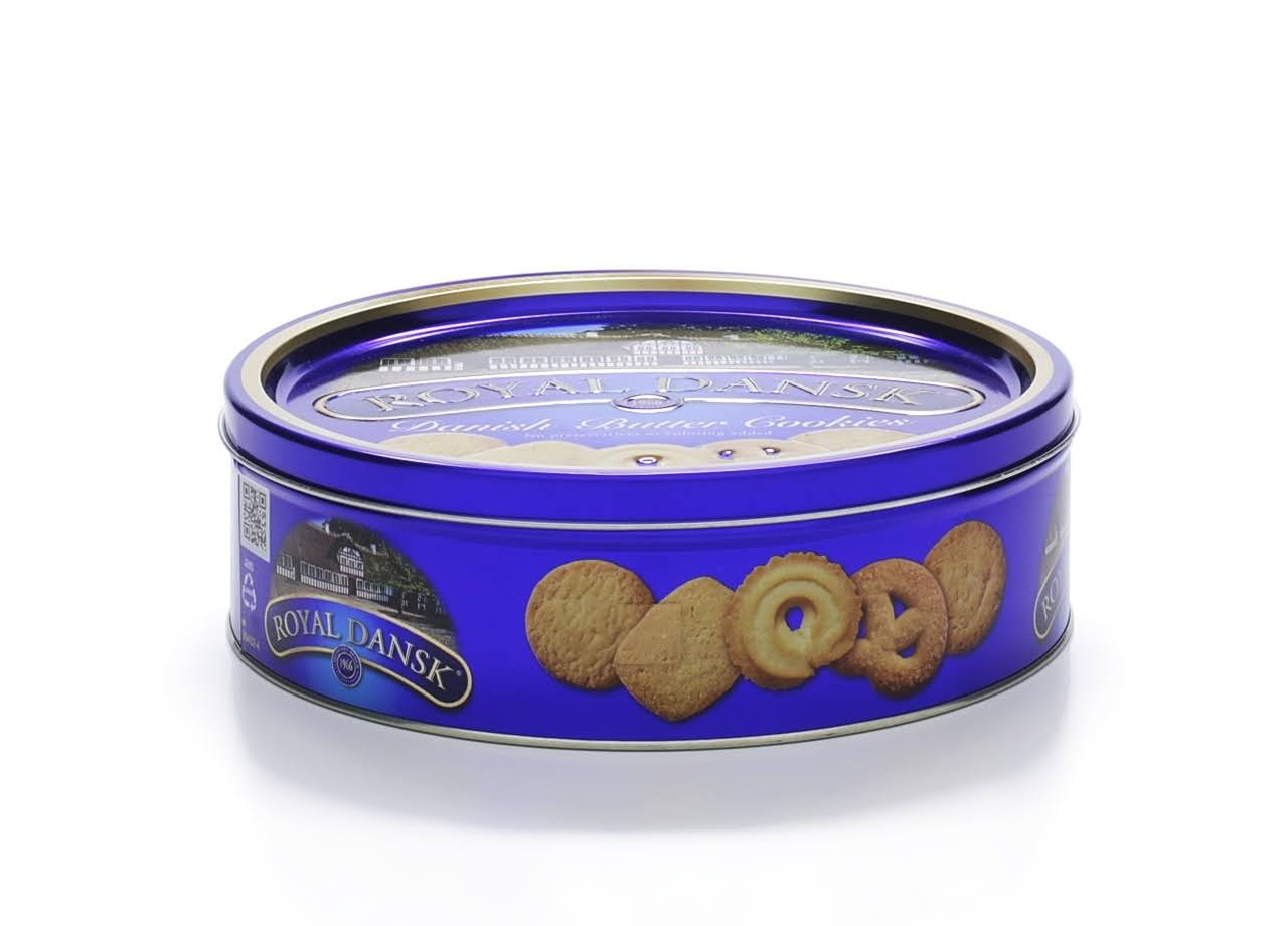 Royal Dansk Cookies, Danish Butter - 12 oz tin
