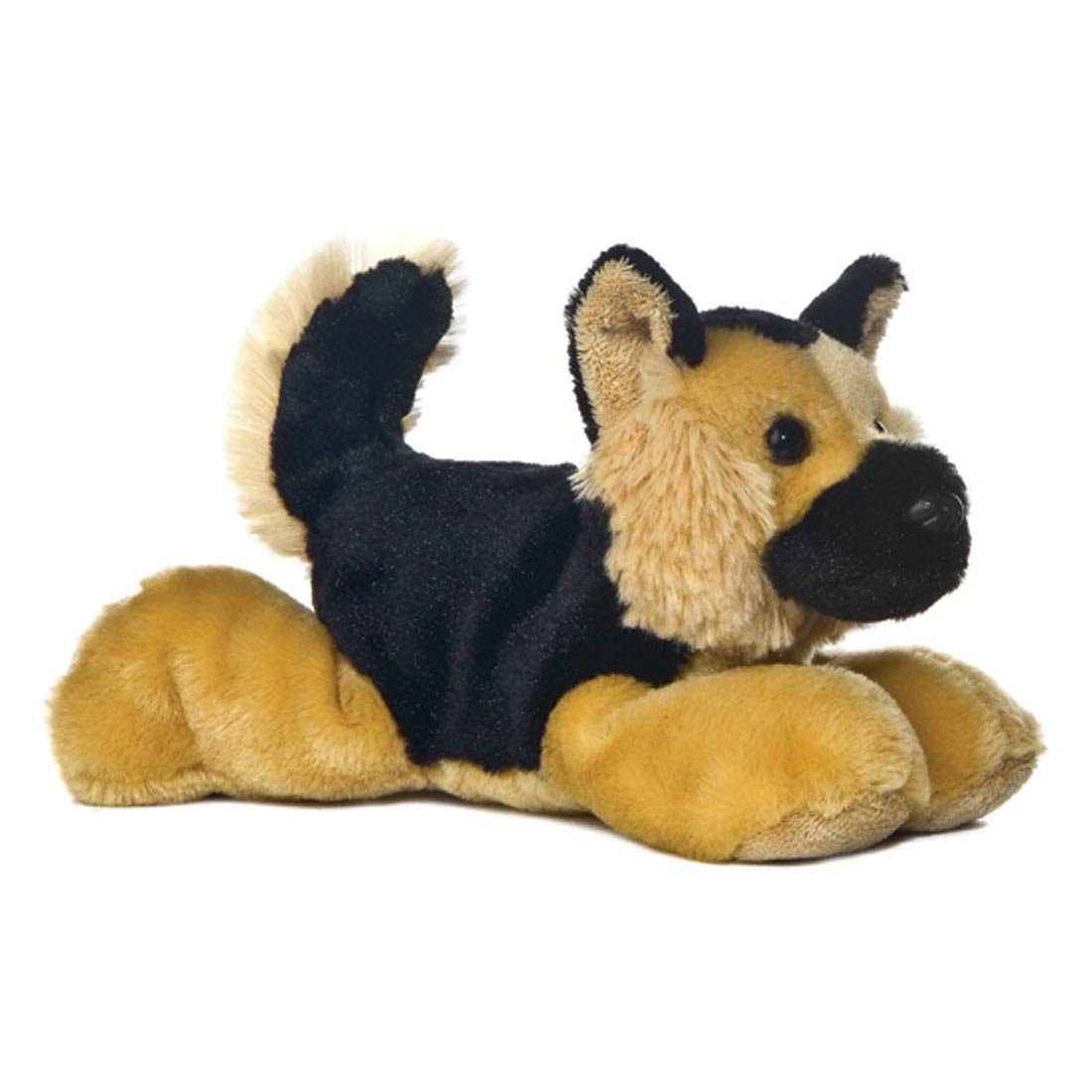 Aurora World The Mini Flopsie Baby Puppy Plush Toy - German Shepherd, 8""