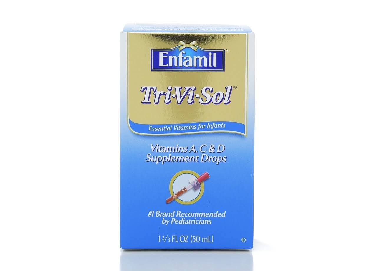 Enfamil Tri ViSol Liquid Vitamins A C and D Baby Supplement Drops - 50ml