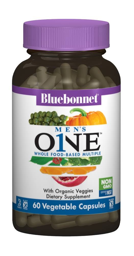 Bluebonnet Men's One Whole Food-Based Multiple, 60 Veg Capsules