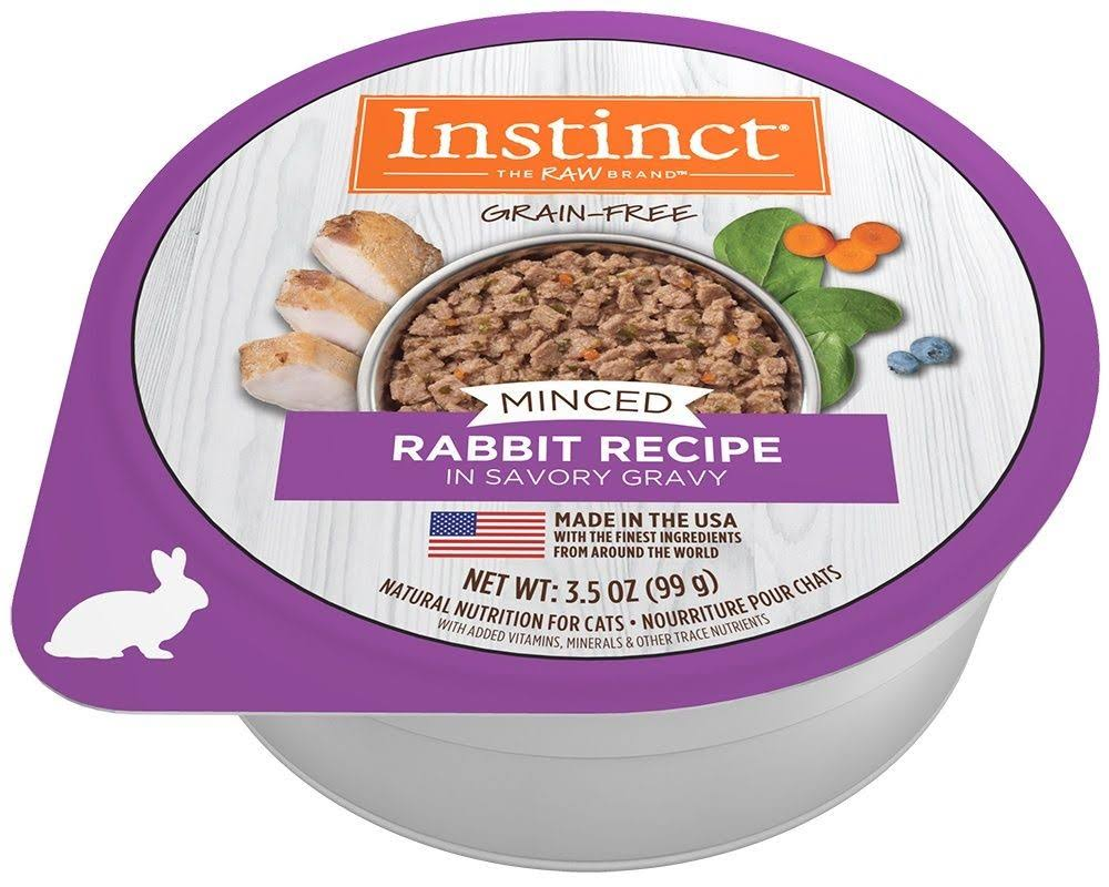 Instinct by Nature's Variety Grain-Free Minced Recipe with Real Rabbit Wet Cat Food Cups, 3.5-oz, case of 12