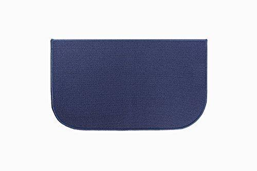 "Ritz Accent Rug with Latex Backing - Blue, 18""x30"""