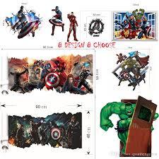 Superhero Bedroom Decor Nz by 8 Design Avengers 3d Diy Super Hero Captain America Iron Man Hulk
