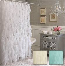 Pink Ruffle Curtain Topper by Unique Cascade Style Semi Sheer Shower Curtain Bathroom Reno