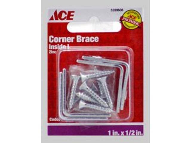 "Ace Living Corner Brace - 1""x1/2"", 10 Pack"
