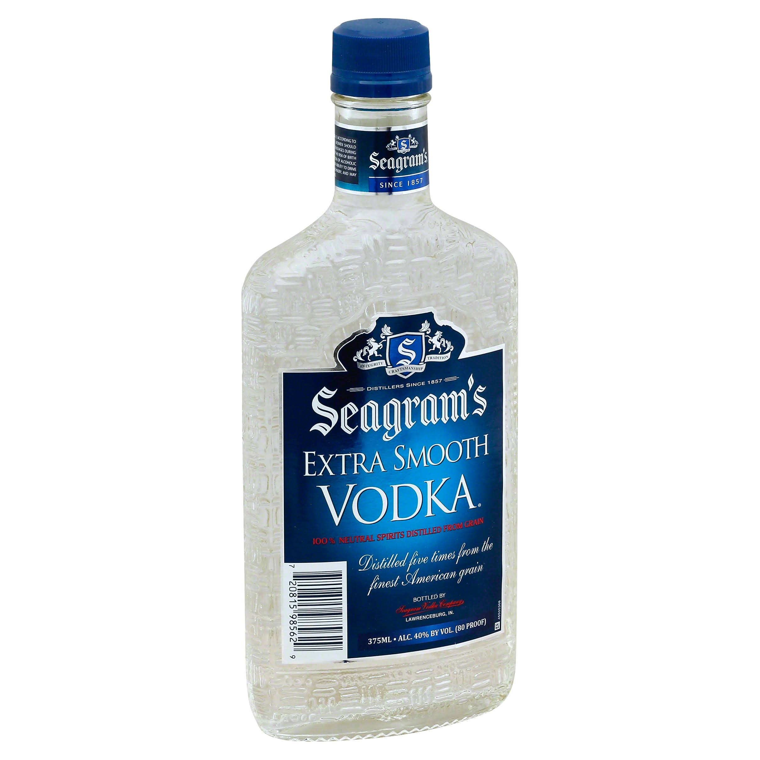 Seagrams Vodka, Extra Smooth - 375 ml