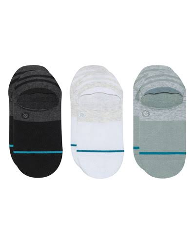 Stance Gamut Super Invisible No Show Sock - Black, Grey, White sets of 3