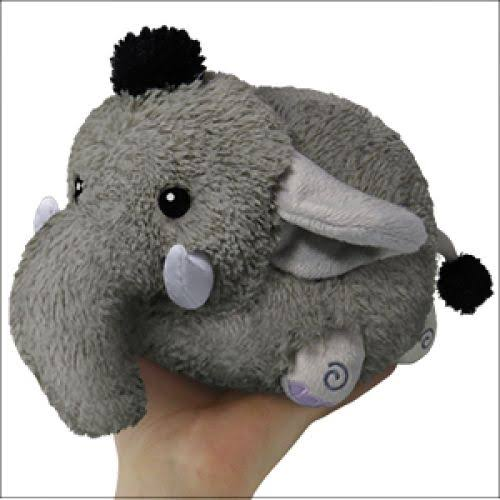 Squishable Mini Round Soft Plush Toy - Elephant, 7""