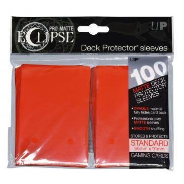 Pro-Matte Eclipse Apple Red Standard (100) Deck Protector Sleeves