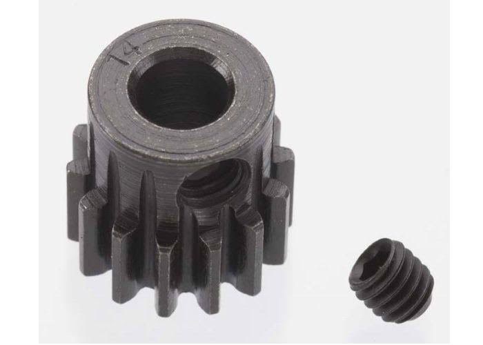Robinson Racing 8614 Extra Hard 14 Tooth Blackened Steel 32P Pinion 5mm