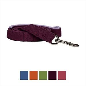 Planet Dog Hemp Dog Leash with Fleece-Lined Handle, Purple, Small
