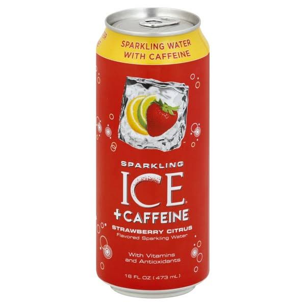 Sparkling Ice +Caffeine Sparkling Water, Strawberry Citrus - 16 fl oz